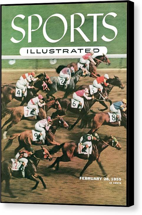 Horse Canvas Print featuring the photograph 1955 Flamingo Stakes Sports Illustrated Cover by Sports Illustrated