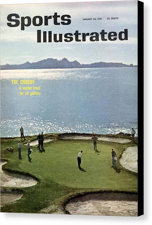 Magazine Cover Canvas Print featuring the photograph 1960 Bing Crosby National Pro Am Sports Illustrated Cover by Sports Illustrated