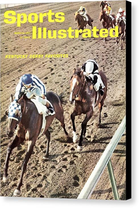 Horse Canvas Print featuring the photograph 1962 Bahama Stakes Sports Illustrated Cover by Sports Illustrated