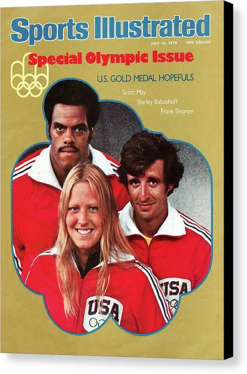 Magazine Cover Canvas Print featuring the photograph 1976 Montreal Olympic Games Preview Sports Illustrated Cover by Sports Illustrated