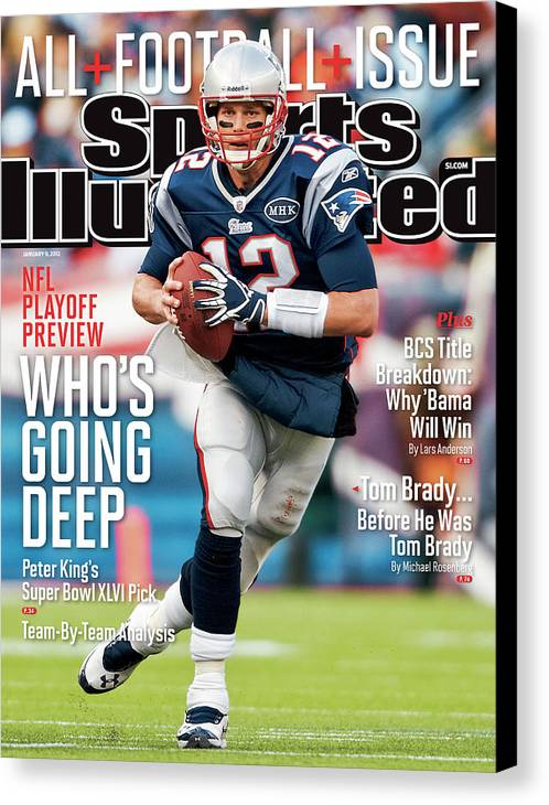 Magazine Cover Canvas Print featuring the photograph Whos Going Deep 2012 Nfl Playoff Preview Issue Sports Illustrated Cover by Sports Illustrated