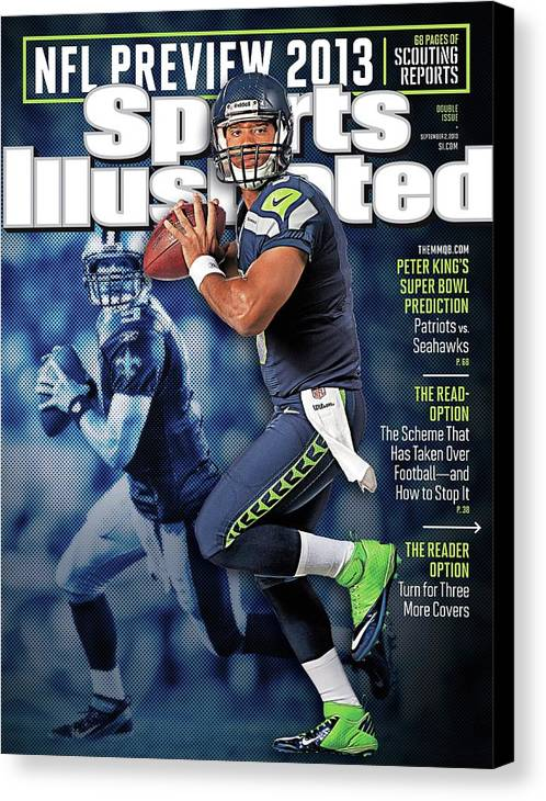 Magazine Cover Canvas Print featuring the photograph The New Kings 2013 Nfl Football Preview Issue Sports Illustrated Cover by Sports Illustrated