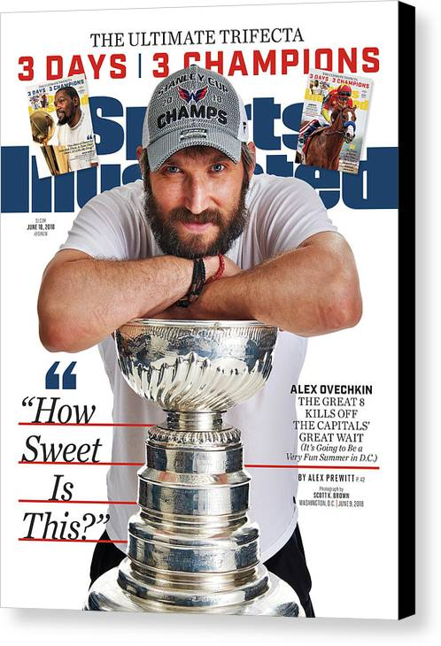 Magazine Cover Canvas Print featuring the photograph The Ultimate Trifecta 3 Days, 3 Champions Sports Illustrated Cover by Sports Illustrated