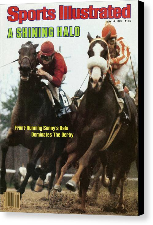 Magazine Cover Canvas Print featuring the photograph A Shining Halo Front-running Sunnys Halo Dominates The Derby Sports Illustrated Cover by Sports Illustrated