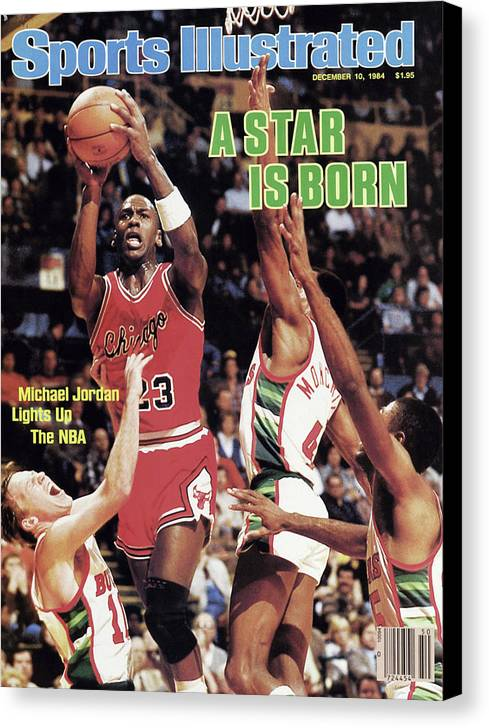 Chicago Bulls Canvas Print featuring the photograph A Star Is Born Michael Jordan Lights Up The Nba Sports Illustrated Cover by Sports Illustrated