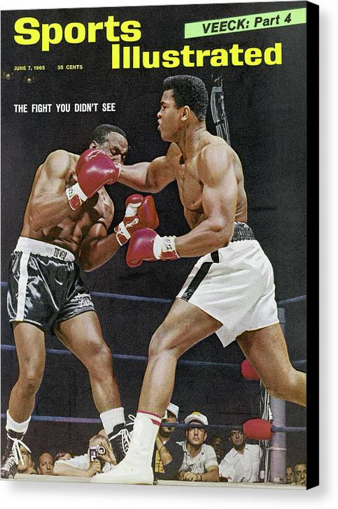 Magazine Cover Canvas Print featuring the photograph Ali Vs Liston The Fight You Didnt See Sports Illustrated Cover by Sports Illustrated