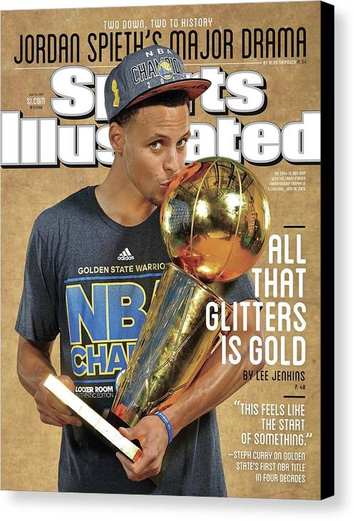 Magazine Cover Canvas Print featuring the photograph All That Glitters Is Gold Sports Illustrated Cover by Sports Illustrated