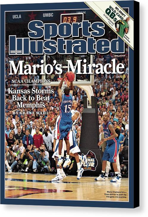 Magazine Cover Canvas Print featuring the photograph April 14, 2008 Sports Illustrate Sports Illustrated Cover by Sports Illustrated