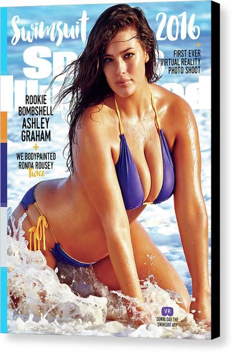 Ashley Graham Swimsuit 2016 Sports Illustrated Cover Canvas Print Canvas Art By Sports Illustrated
