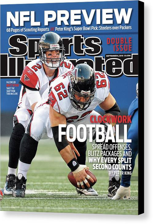Magazine Cover Canvas Print featuring the photograph Atlanta Falcons V New York Giants Sports Illustrated Cover by Sports Illustrated