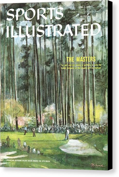 Magazine Cover Canvas Print featuring the photograph Augusta National Golf Course, 1960 Masters Preview Sports Illustrated Cover by Sports Illustrated