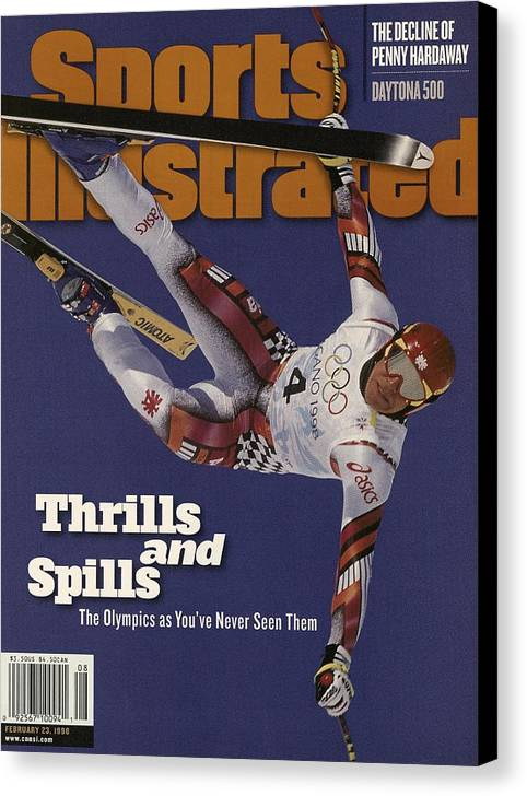 Skiing Canvas Print featuring the photograph Austria Herman Maier, 1998 Winter Olympics Sports Illustrated Cover by Sports Illustrated