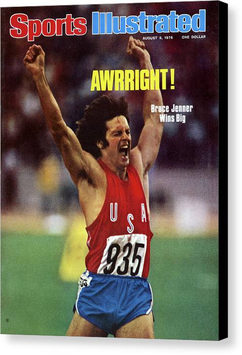 The Olympic Games Canvas Print featuring the photograph Awrright Bruce Jenner Wins Big Sports Illustrated Cover by Sports Illustrated