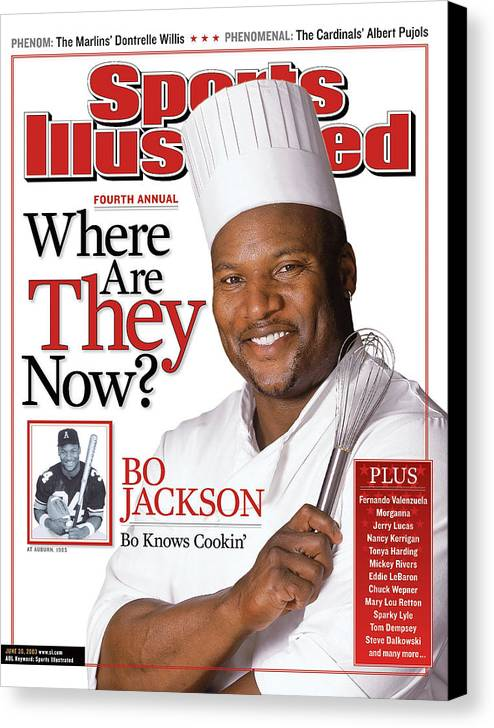 Magazine Cover Canvas Print featuring the photograph Bo Jackson, Where Are They Now Sports Illustrated Cover by Sports Illustrated