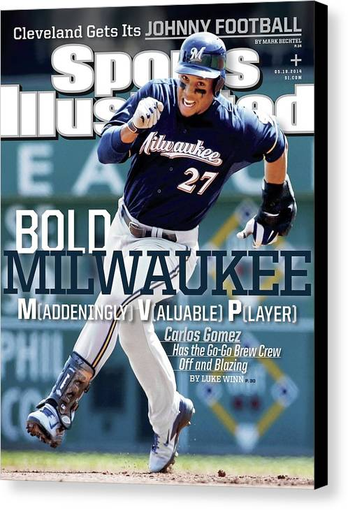 Magazine Cover Canvas Print featuring the photograph Bold Milwaukee Maddeningly Valuable Player Sports Illustrated Cover by Sports Illustrated