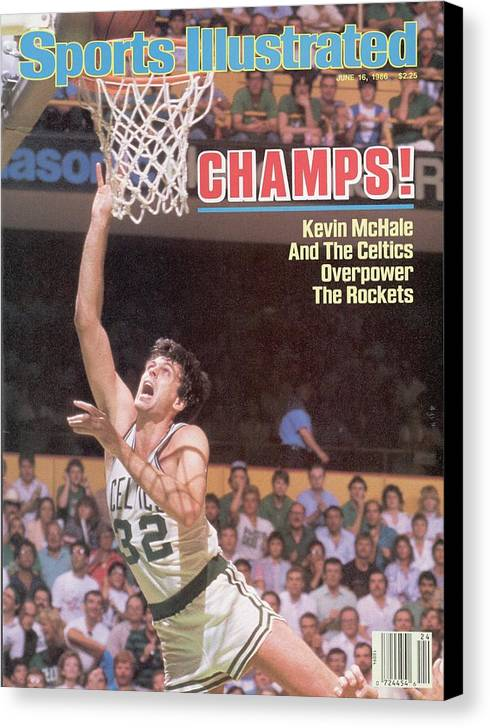 Playoffs Canvas Print featuring the photograph Boston Celtics Kevin Mchale, 1986 Nba Finals Sports Illustrated Cover by Sports Illustrated