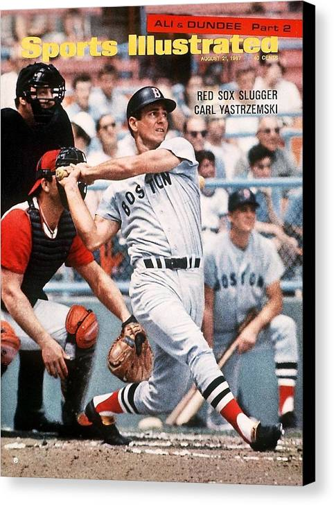 Magazine Cover Canvas Print featuring the photograph Boston Red Sox Carl Yastrzemski... Sports Illustrated Cover by Sports Illustrated