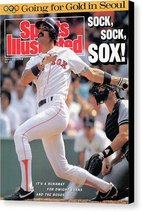Magazine Cover Canvas Print featuring the photograph Boston Red Sox Dwight Evans... Sports Illustrated Cover by Sports Illustrated