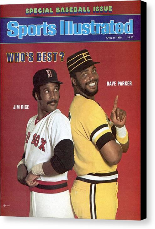 Season Canvas Print featuring the photograph Boston Red Sox Jim Rice And Pittsburgh Pirates Dave Parker Sports Illustrated Cover by Sports Illustrated