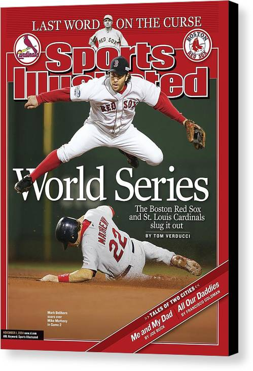 St. Louis Cardinals Canvas Print featuring the photograph Boston Red Sox Mark Bellhorn, 2004 World Series Sports Illustrated Cover by Sports Illustrated