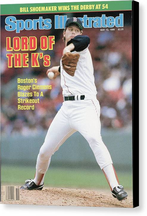 1980-1989 Canvas Print featuring the photograph Boston Red Sox Roger Clemens... Sports Illustrated Cover by Sports Illustrated