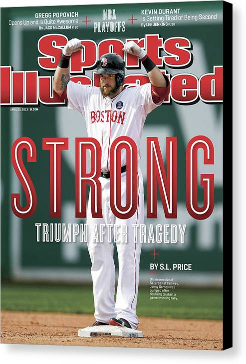 Magazine Cover Canvas Print featuring the photograph Boston Strong Triumph After Tragedy Sports Illustrated Cover by Sports Illustrated