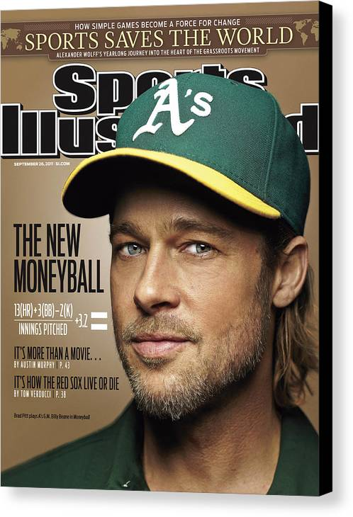 People Canvas Print featuring the photograph Brad Pitt Sports Illustrated Cover by Sports Illustrated