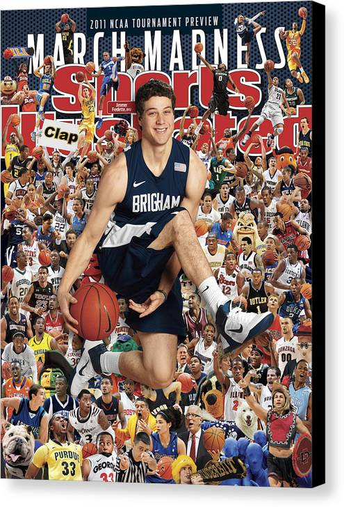 Provo Canvas Print featuring the photograph Brigham Young University Jimmer Fredette, 2011 March Sports Illustrated Cover by Sports Illustrated