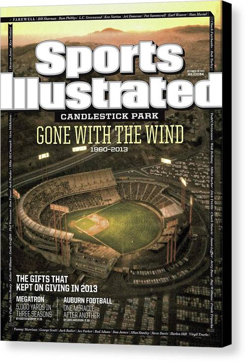 Candlestick Park Canvas Print featuring the photograph Candlestick Park Gone With The Wind Sports Illustrated Cover by Sports Illustrated