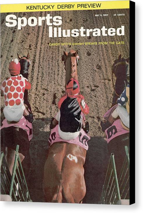 Horse Canvas Print featuring the photograph Candy Spots, 1963 Florida Derby Sports Illustrated Cover by Sports Illustrated