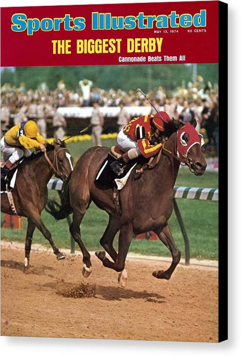 Horse Canvas Print featuring the photograph Cannonade, 1974 Kentucky Derby Sports Illustrated Cover by Sports Illustrated