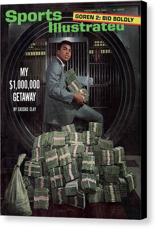 Magazine Cover Canvas Print featuring the photograph Cassius Clay, Heavyweight Boxing Sports Illustrated Cover by Sports Illustrated
