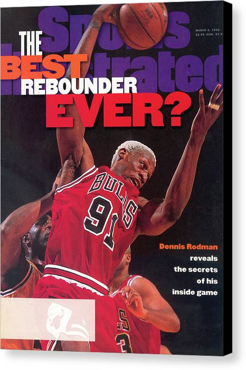 Chicago Bulls Canvas Print featuring the photograph Chicago Bulls Dennis Rodman... Sports Illustrated Cover by Sports Illustrated