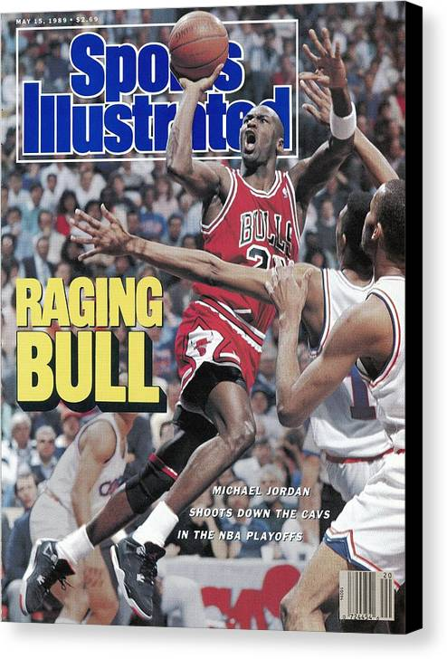 Playoffs Canvas Print featuring the photograph Chicago Bulls Michael Jordan, 1989 Nba Eastern Conference Sports Illustrated Cover by Sports Illustrated