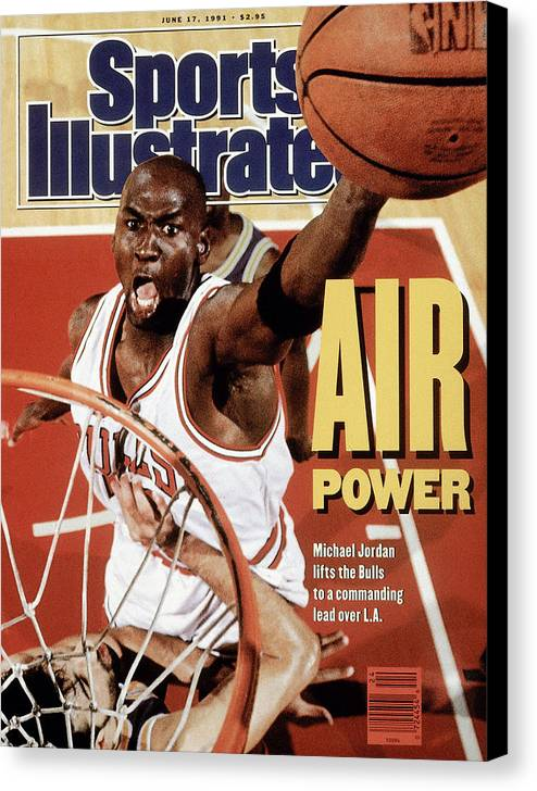 Playoffs Canvas Print featuring the photograph Chicago Bulls Michael Jordan, 1991 Nba Finals Sports Illustrated Cover by Sports Illustrated