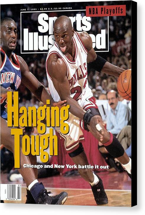 Playoffs Canvas Print featuring the photograph Chicago Bulls Michael Jordan, 1993 Nba Eastern Conference Sports Illustrated Cover by Sports Illustrated