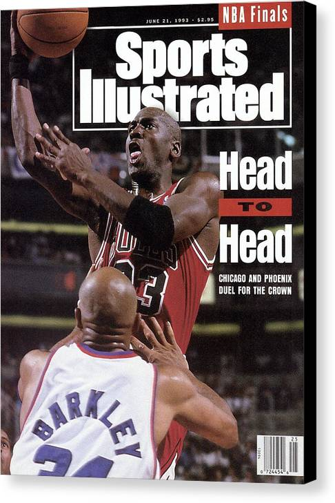 Playoffs Canvas Print featuring the photograph Chicago Bulls Michael Jordan, 1993 Nba Finals Sports Illustrated Cover by Sports Illustrated