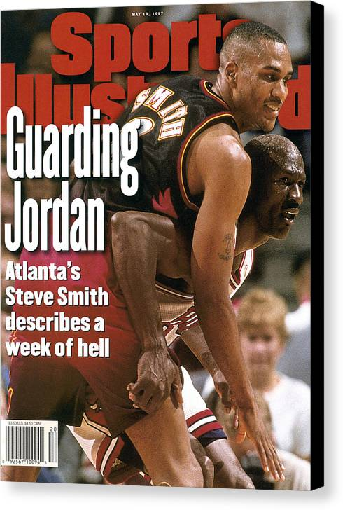 Playoffs Canvas Print featuring the photograph Chicago Bulls Michael Jordan, 1997 Nba Eastern Conference Sports Illustrated Cover by Sports Illustrated