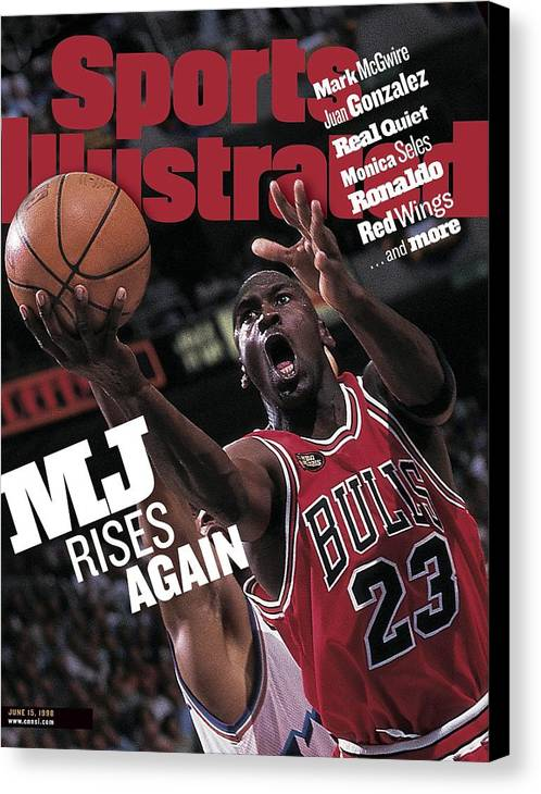 Playoffs Canvas Print featuring the photograph Chicago Bulls Michael Jordan, 1998 Nba Finals Sports Illustrated Cover by Sports Illustrated