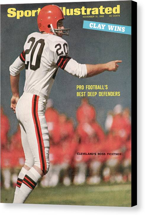 Atlanta Canvas Print featuring the photograph Cleveland Browns Ross Fichtner... Sports Illustrated Cover by Sports Illustrated