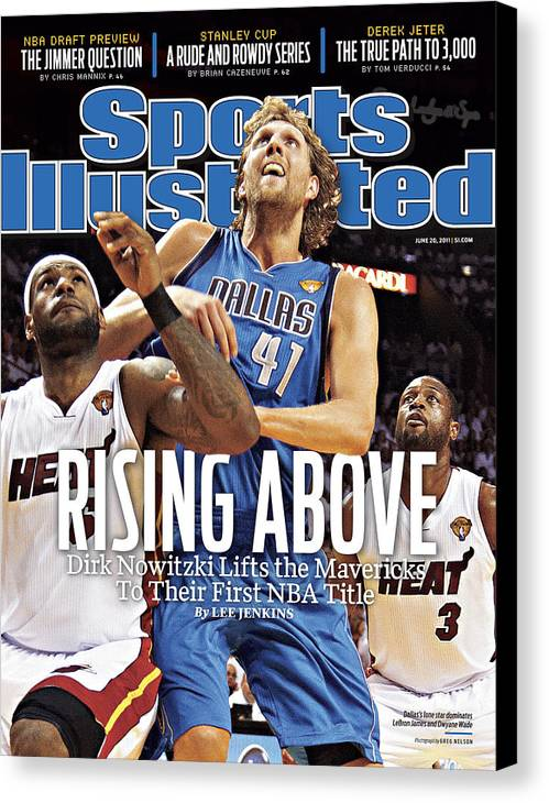 Playoffs Canvas Print featuring the photograph Dallas Mavericks V Miami Heat - Game Six Sports Illustrated Cover by Sports Illustrated