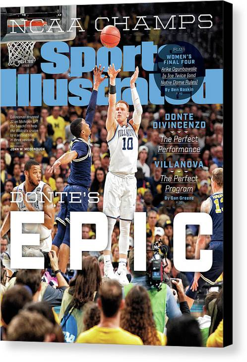Magazine Cover Canvas Print featuring the photograph Dantes Epic Donte Divincenzo, The Perfect Performance Sports Illustrated Cover by Sports Illustrated