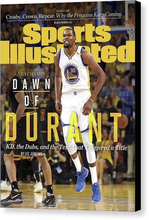 Playoffs Canvas Print featuring the photograph Dawn Of Durant Kd, The Dubs, And The Text That Triggered A Sports Illustrated Cover by Sports Illustrated