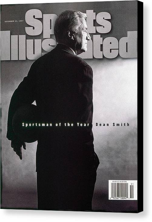 North Carolina Canvas Print featuring the photograph Dean Smith 1997 Sportsman Of The Year Sports Illustrated Cover by Sports Illustrated