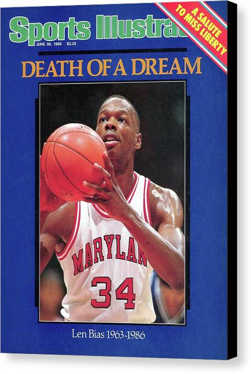 Cocaine Canvas Print featuring the photograph Death Of A Dream University Of Maryland Len Bias, 1963-1986 Sports Illustrated Cover by Sports Illustrated