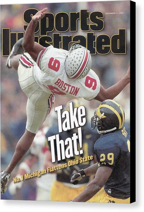 Magazine Cover Canvas Print featuring the photograph December 1, 1997 Sports Illustra... Sports Illustrated Cover by Sports Illustrated