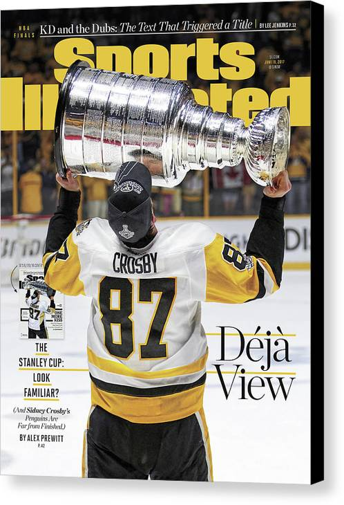 Magazine Cover Canvas Print featuring the photograph Deja View. The Stanley Cup Look Familiar Sports Illustrated Cover by Sports Illustrated
