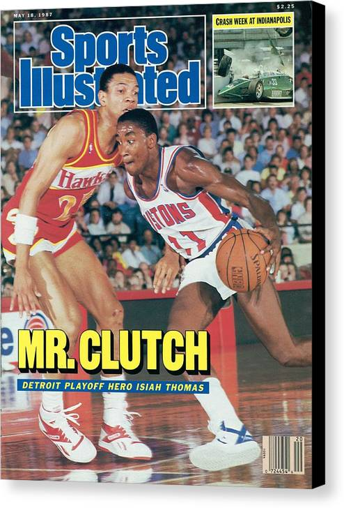 Atlanta Canvas Print featuring the photograph Detroit Pistons Isiah Thomas, 1987 Nba Eastern Conference Sports Illustrated Cover by Sports Illustrated