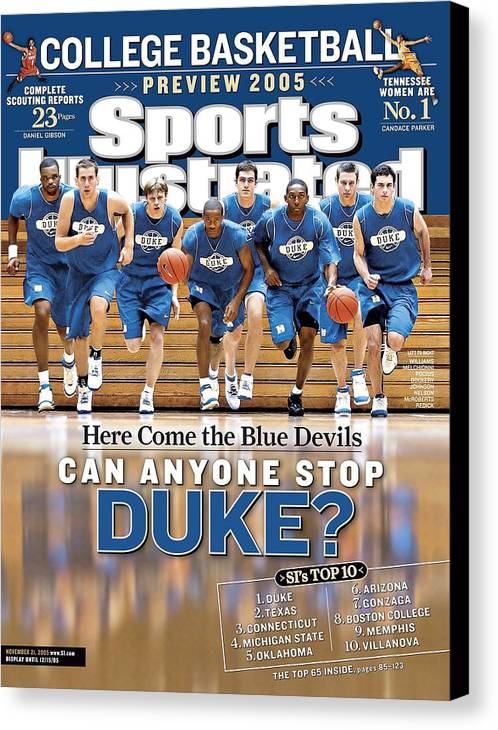 North Carolina Canvas Print featuring the photograph Duke University Basketball Team Sports Illustrated Cover by Sports Illustrated