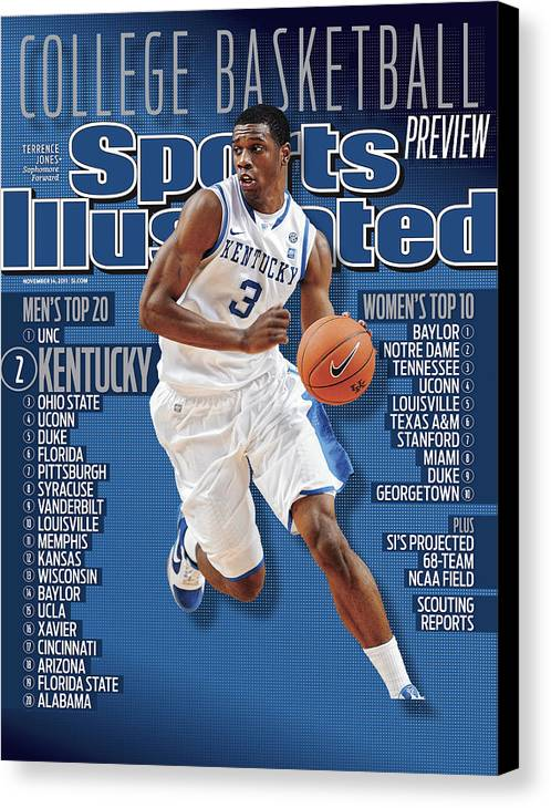 Magazine Cover Canvas Print featuring the photograph Florida V Kentucky Sports Illustrated Cover by Sports Illustrated